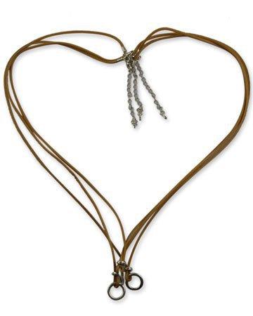 Multi Ring Halsketting - Heart Shape - Pastel Bruin