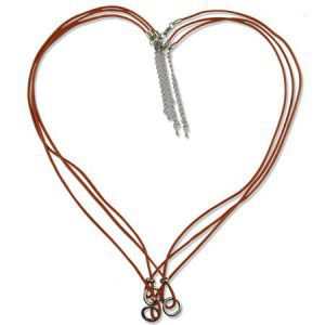 Multi Ring Halsketting - Heart Shape - Pastel Beige