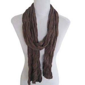 Kleine Jersey-Stof Sjaal - Gebroken bruin (Smal - S)