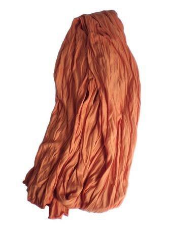 Kleine Jersey-Stof Sjaal - oranje (Smal - S)