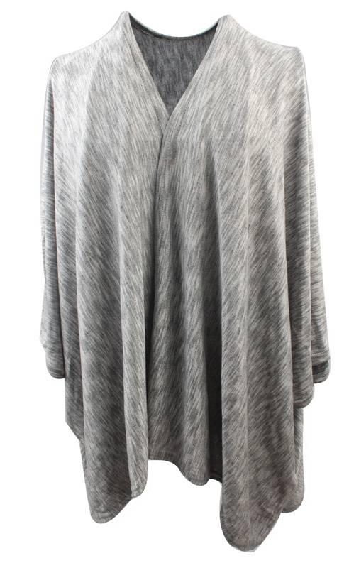 Poncho melange grijs (885161)