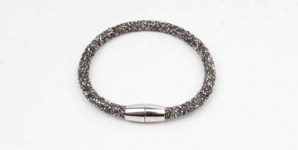 "Armband ""Glitter"" antraciet (327832)"