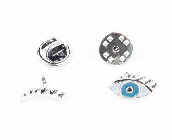 "Fashion pin 'Eyes"" set van 2"