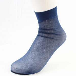 "Sokken ""Metallic"" blauw"