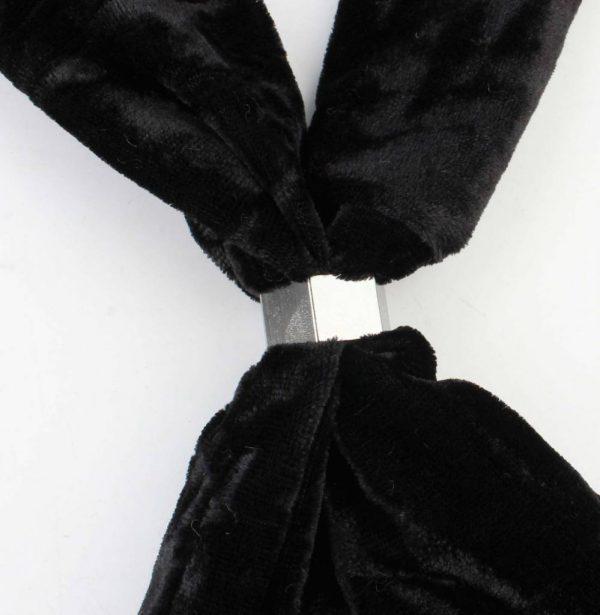 """Sjaal """"Fluweel"""" zwart -"""