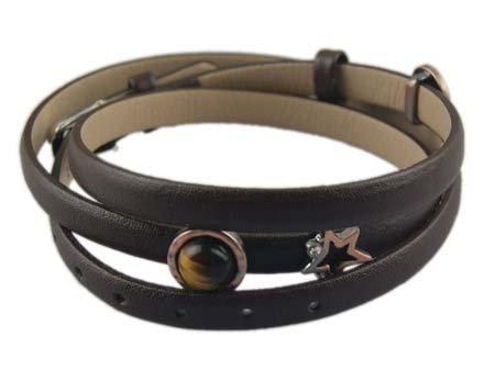 Drievoudige wikkelarmband - Zwart - Donkere Moonmix Bedeltjes