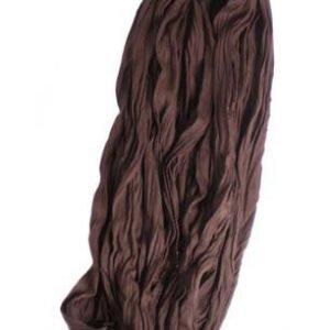 Kleine Jersey-Stof Sjaal - kastanje bruin (Smal - S)