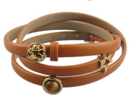 Drievoudige wikkelarmband - Bruin - Gouden Bedeltjes