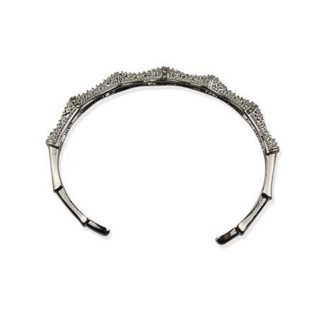 Open Bangle - Kunst Diamantjes