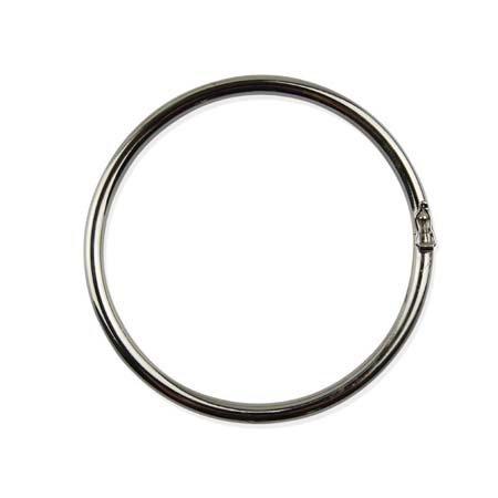 Ronde Schakel Armband - Oval - Zilver