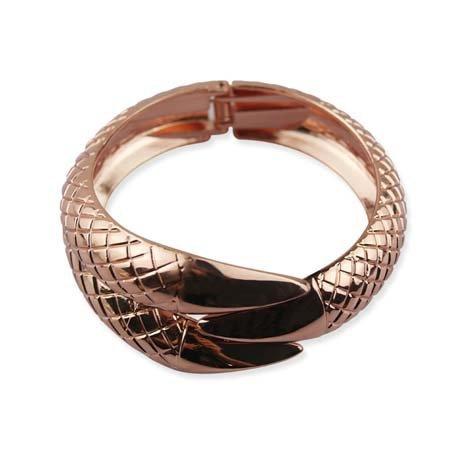 Metallic Rosé Snake Shape Armband