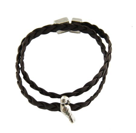 Dubbele Ribbel Armband - Uil 316L Bedel