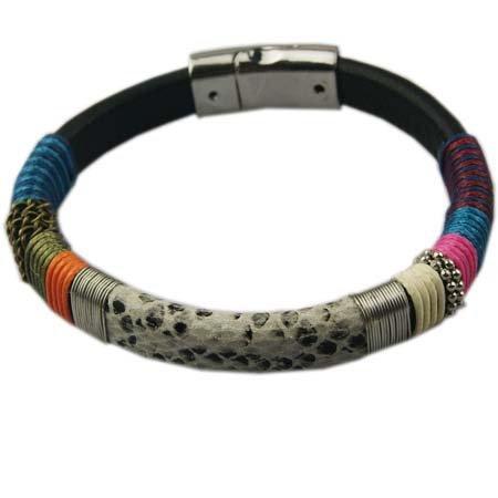 Polsband met kliksluiting - Warme kleuren