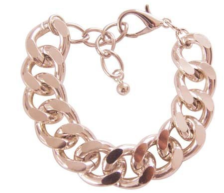 Klassieke dikke armband - Karabijnsluiting - True pink/roze