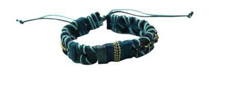 Dikke Zachte Armband 'Laces' - Blauw