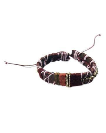 Dikke Zachte Armband 'Laces' - Paars