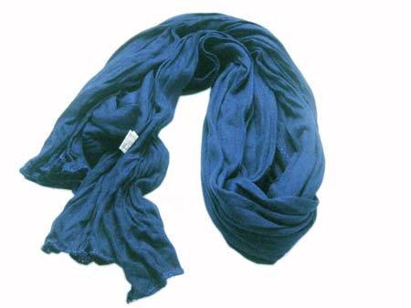 Kleine Jersey-Stof Sjaal - blauw (Smal - S)
