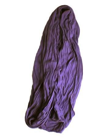 Kleine Jersey-Stof Sjaal - Paars (Smal - S)