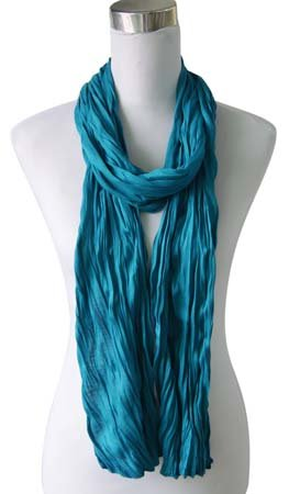 Kleine Jersey-Stof Sjaal - Speciaal turquoise (Smal - S)