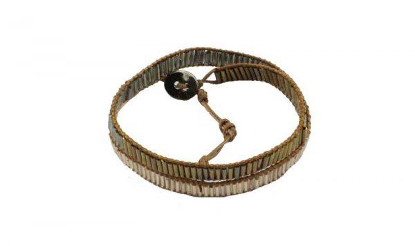 Smalle bruine armband - Handmade-look