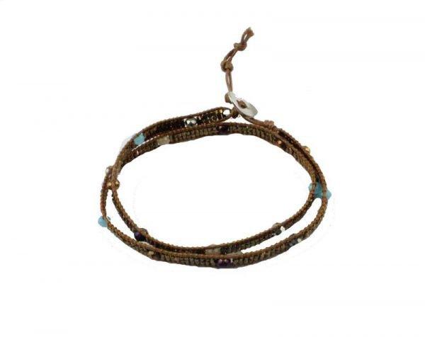 Klassieke Inca Bedelarmband - Bruin