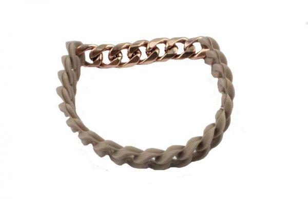 Moderne Armband - Taupé Bruin / Goud-sluiting