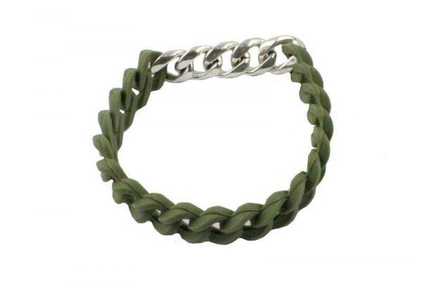 Moderne Armband - Groen / Zilver-sluiting