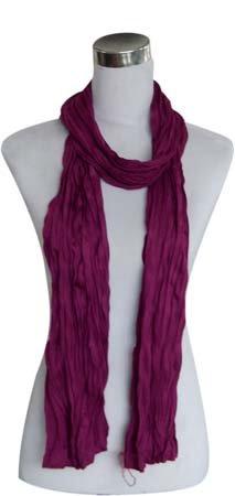 Kleine Jersey-Stof Sjaal - Trendy Paars (Smal - S)